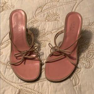 Gucci dainty kitten heel sandals